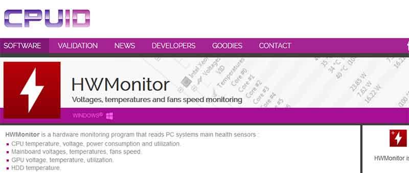 Δωρεάν προγράμματα για τον υπολογιστή και τα windows HWmonitor