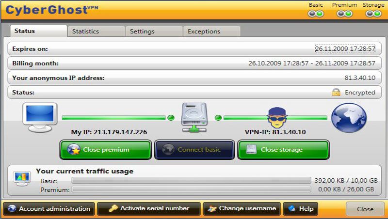 Πώς θα περιηγηθούμε ανώνυμα στο Internet με το CyberGhost VPN 8 pad_screenshot
