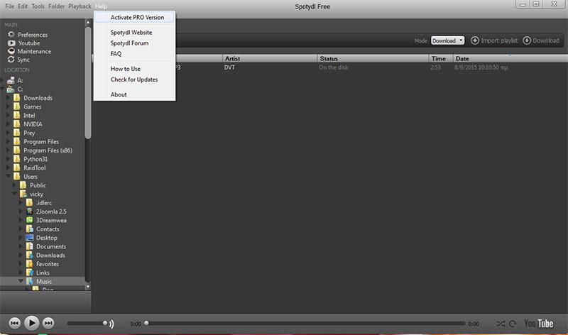 Πως να ακούσουμε ή να κατεβάσουμε μουσική από το Internet με το Spotify spotify-12