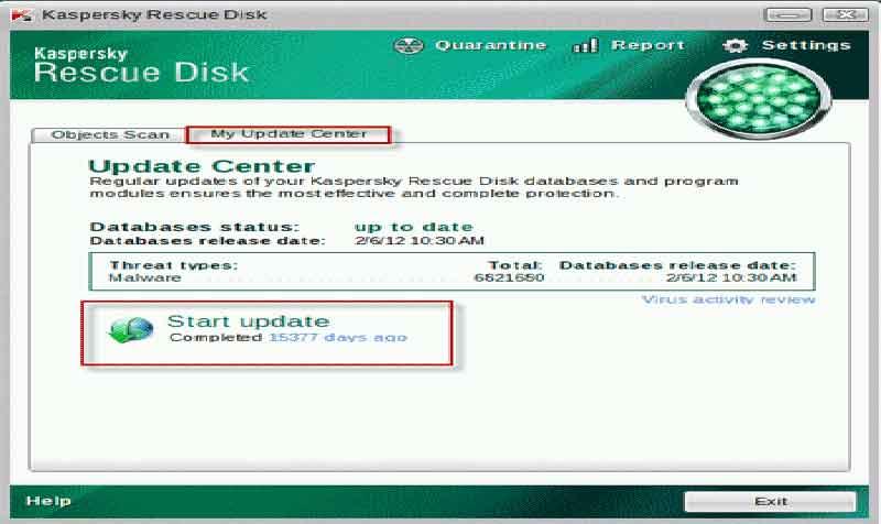Ξεκλειδώστε τον υπολογιστή από τους ιούς κλειδώματος kaspersky-rescue-disk-scanner