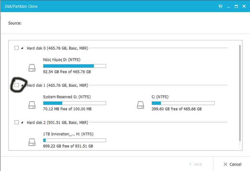 Αντιγραφή δίσκου (κλωνοποίηση) για μεταφορά σε SSD ή HDD 5_clone_disc