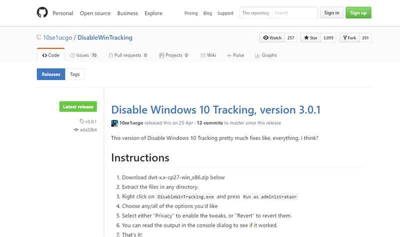 Προστασία του υπολογιστή από την παρακολούθηση της Microsoft windows-block2