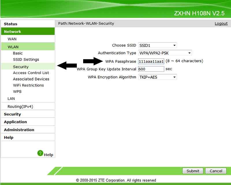 Ασύρματο Internet WiFi αλλαγή κωδικού και ονόματος SSID στο router 10-router