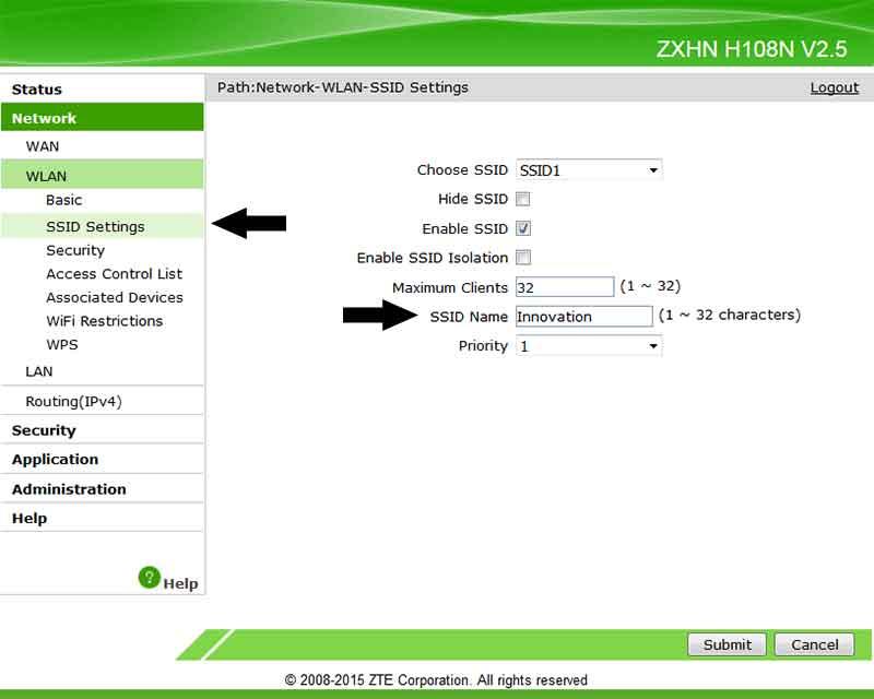 Ασύρματο Internet WiFi αλλαγή κωδικού και ονόματος SSID στο router 8-router